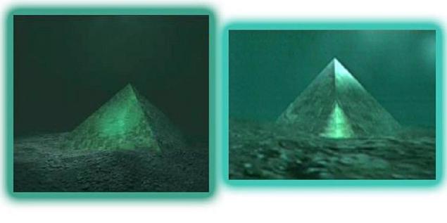 إكتشاف هرمين من الكريستال تحت الماء فى منتصف مثلث برمودا