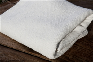 Organic Cotton Herringbone Blanket EndAllDisease