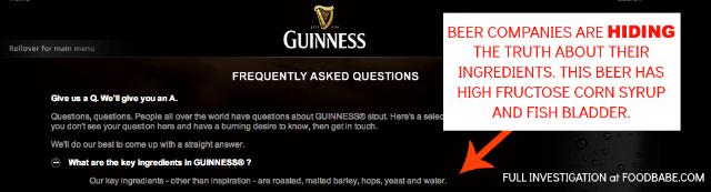 Guinnes Lies about Beer Ingredients - EndAllDisease