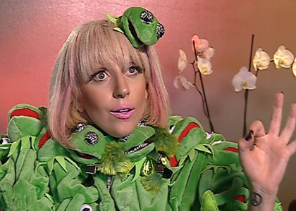 EXCLUSIVE... Lady Gaga Proves That It Can Be Easy Being Green!