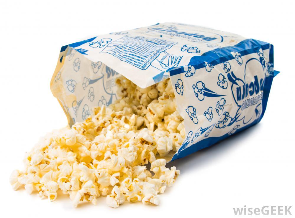 Bagged Popcorn Spilling Out Of Bag