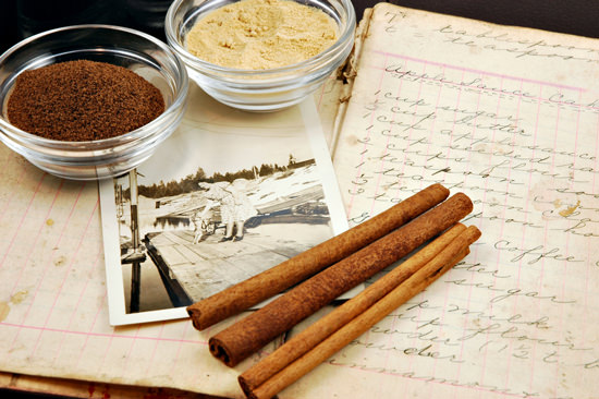 vintage-cookbook-with-cinnamon-sticks